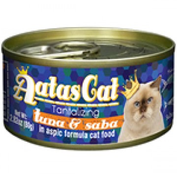 Aatas Cat Tantalizing Tuna & Saba 80g Carton (24 Cans)